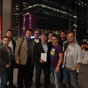 "Late night ""show"" with Brian ""cashflow positive"" Cohen (Chairman of NYC Angel Network). We had fun, that's for sure. Oh, and more thing: he accepted our invitation to Budapest.  — with Biás Csongor, Kristof Bardos, Imre Hild, David Szilagyi, Peter Gyorffy, Gábor Szántó, Gábor Papp, Vince Istvan and Kubat"
